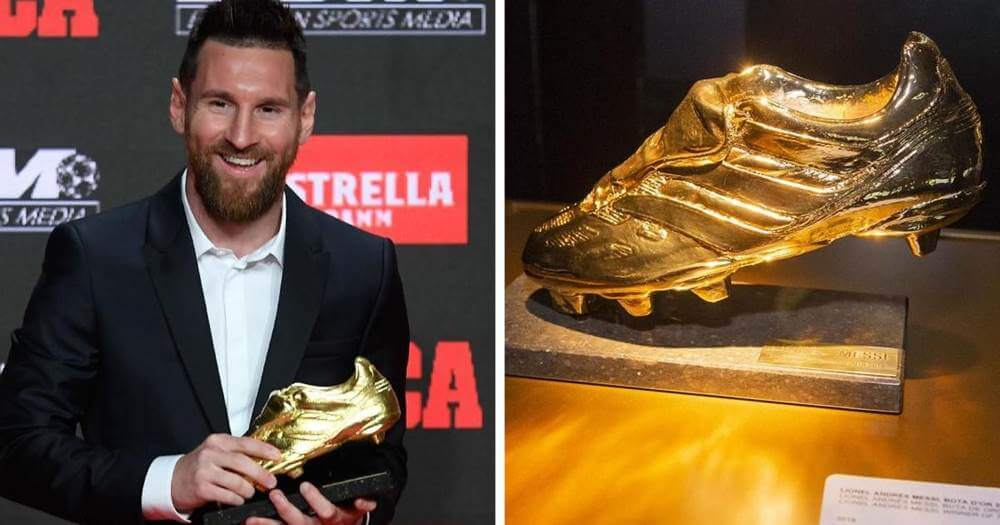 Lionel Messi racing with Lewandowski for the Golden Boot