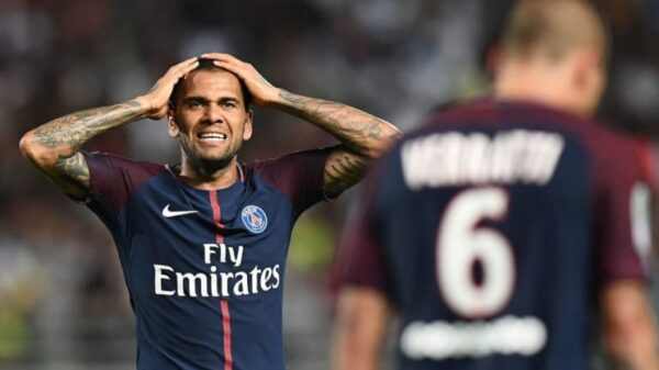 Legendary Brazilian defender Dani Alves regrets passing up the chance to join Manchester City in 2017
